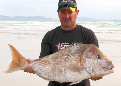 New contest record and overall heaviest snapper winner Darin Maxwell from Te Puke with 12.030kg landed Wednesday