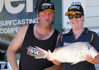 Heaviest Snapper Tuesday Stacey Mc Carthy, Auckland 3.515kg