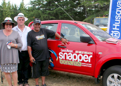 Brian and Rosemary Archibald of Archibald Mitsubishi Motors with Winner Peter Morunga