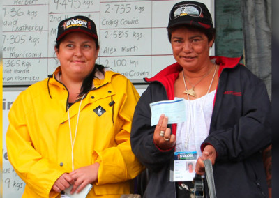 Ladies Average Weight Snapper winners