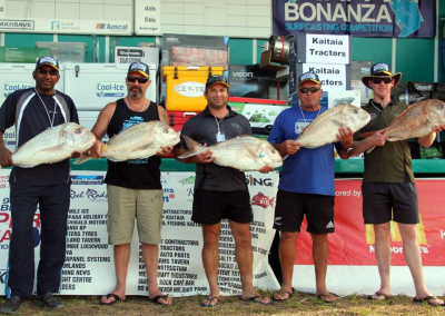 Heaviest Fish for Tuesday - Kevin Munisamy, Phil Harpur, Raymond Cox, Kingi Wiki, Brad Hill