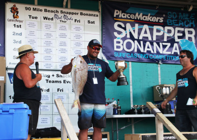 Troy Notton - Overall Heaviest Snapper Winner 2015.