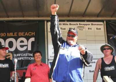 Average fish for the day went to Jesse Newton of Reporoa with a 1.814kg (closest to overall 1.813kg) fish which earned him $1,000