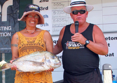 Thursday Winner, Rose Spicer with her fish for the day