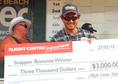 Taka Stokes from Ngataki won the Flight Centre sponsored prize of $3,000