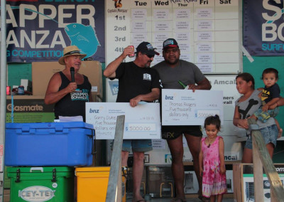 Average Weight Snapper Winners, Gary Duke and Thomas Rogers
