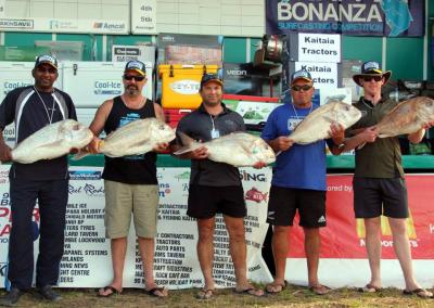 Heaviest Fish for Tuesday - Kevin Munisamy, Phil Harpur, Raymond Cox, Kingi Wiki, Brad Hill