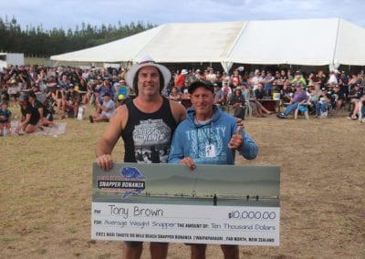 Tony Brown - Average Weight Winner